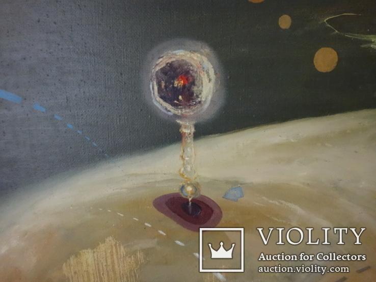 Картина, беспредметная живопись, холст, масло, 84х102, фото №7