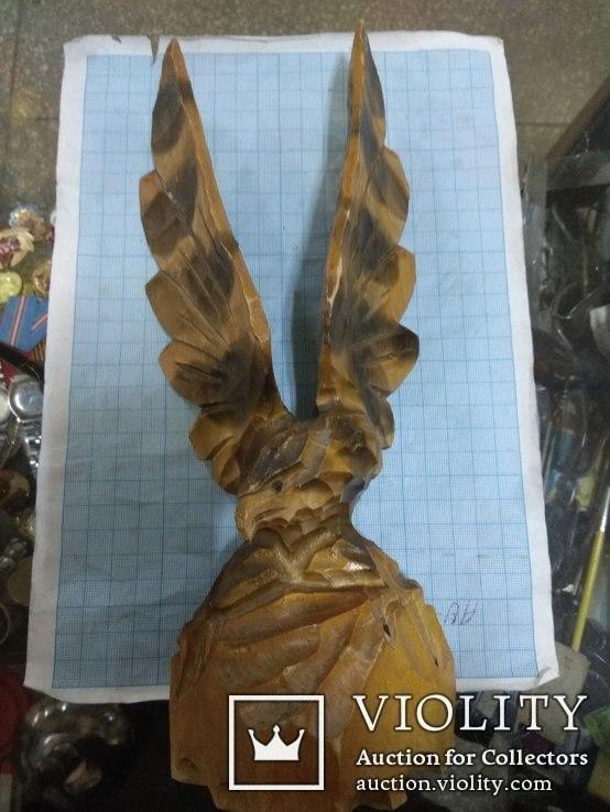 Орел деревянный, фото №2