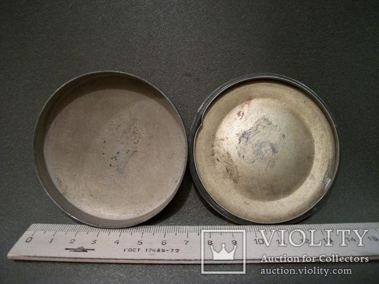 2275 Шкатулка, эмаль, мельхиор, диаметр 7,3, высота 3 см., фото №8