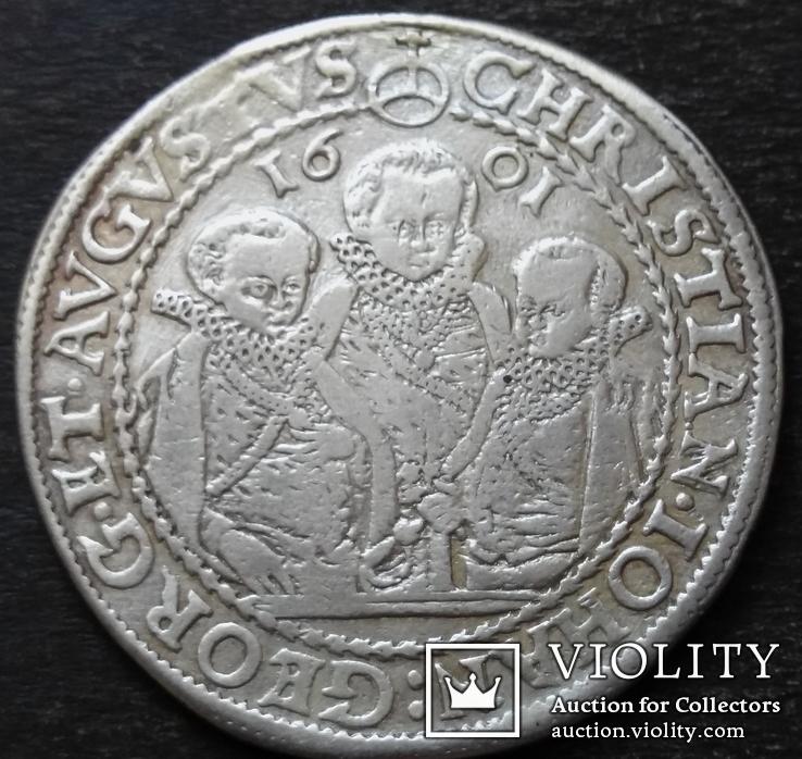 1 талер 1601 год , Три брата. Германия, Саксония, фото №2