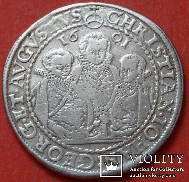 1 талер 1601 год , Три брата. Германия, Саксония, фото №3