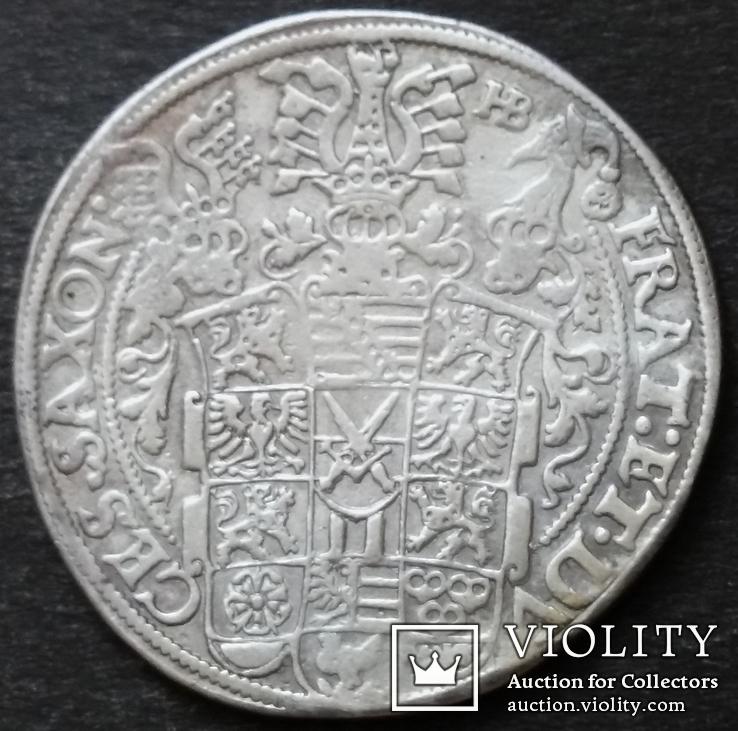 1 талер 1601 год , Три брата. Германия, Саксония, фото №4