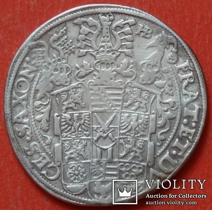 1 талер 1601 год , Три брата. Германия, Саксония, фото №9