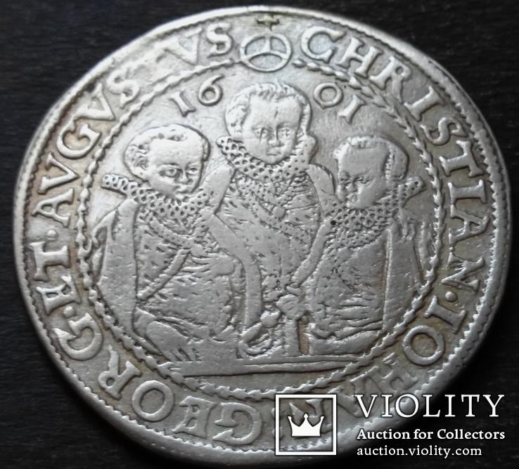 1 талер 1601 год , Три брата. Германия, Саксония, фото №10