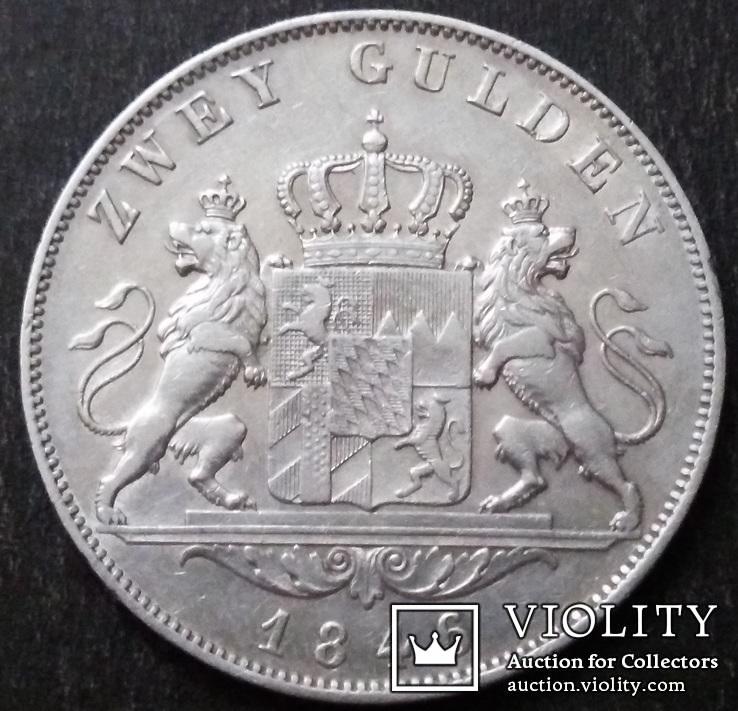 2 гульдена 1846 года, Королевство Бавария (1806 - 1918), Людвиг, Серебро, фото №11