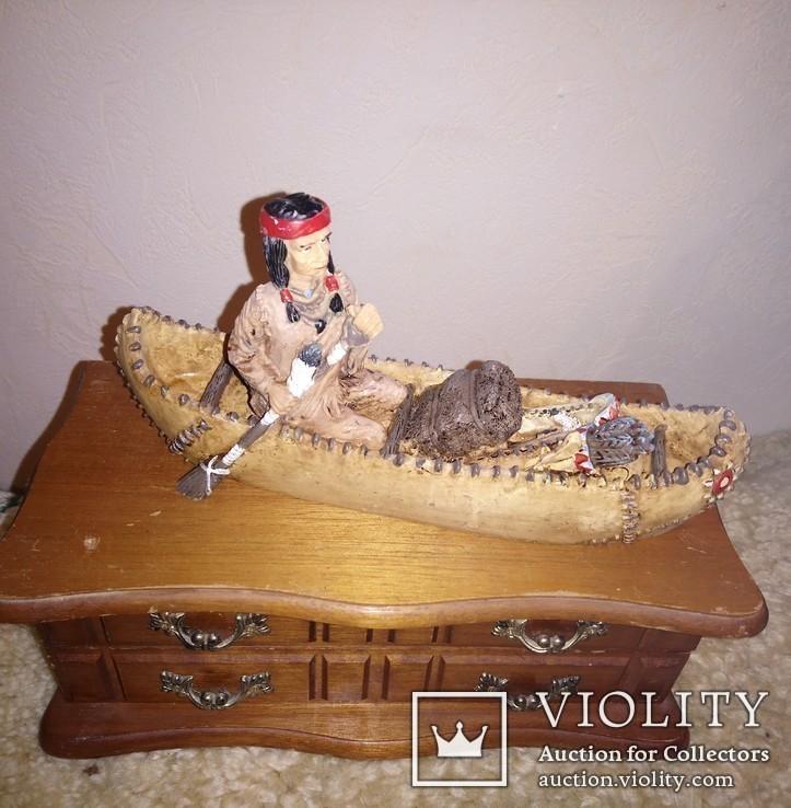 Індіанці в каное. 2шт., фото №2