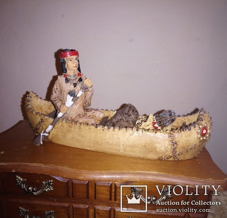 Індіанці в каное. 2шт., фото №3