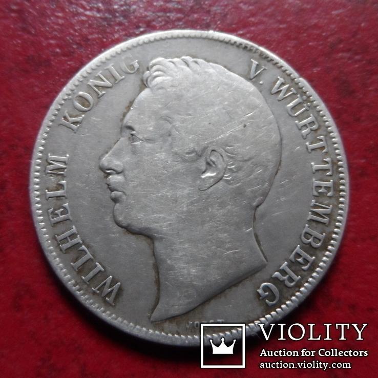 1 гульден  1839 Вюрттемберг  серебро    (А.1.24)~, фото №3