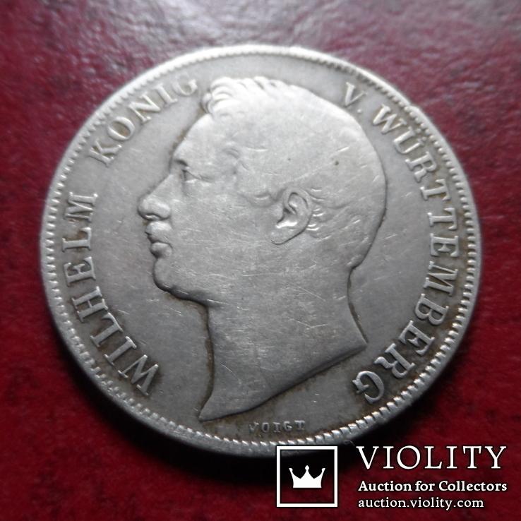 1 гульден  1839 Вюрттемберг  серебро    (А.1.24)~, фото №4