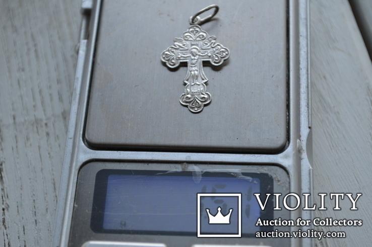 Крестик Серебро  №2 1,5, фото №4