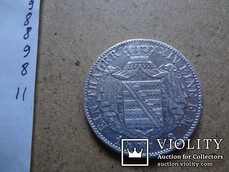 1 талер 1853  Саксония  серебро    (9.8.11)~, фото №11