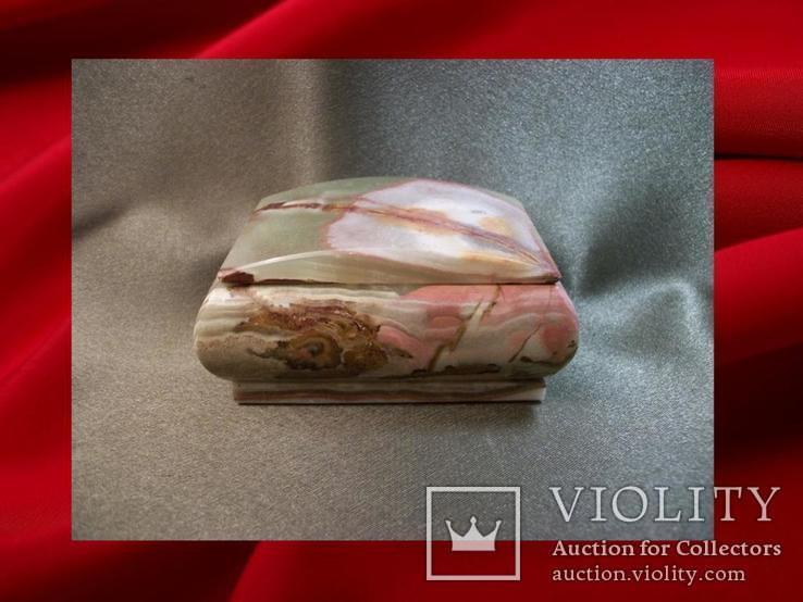 550 Шкатулка оникс., фото №2
