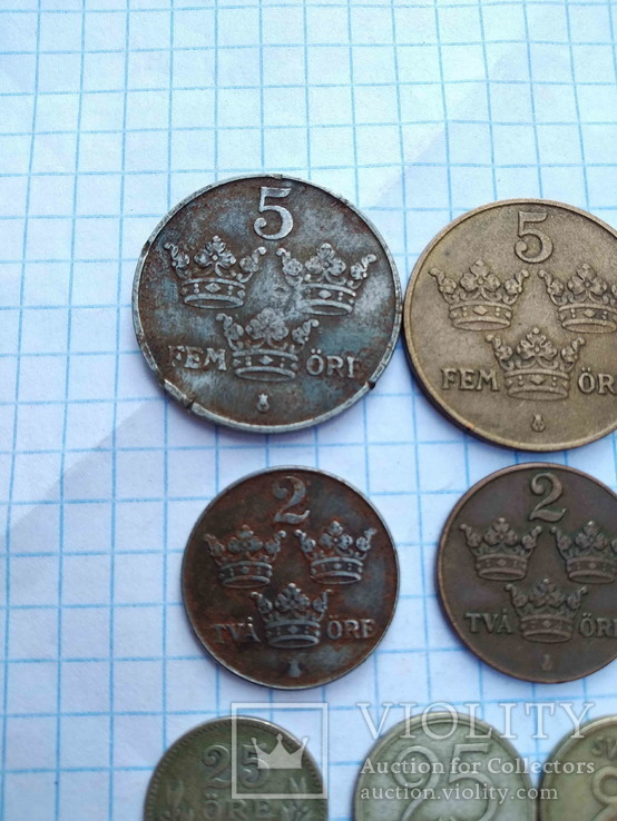 Швеція, 10 монет 1919 - 1962 рр., фото №3