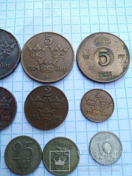 Швеція, 10 монет 1919 - 1962 рр., фото №4