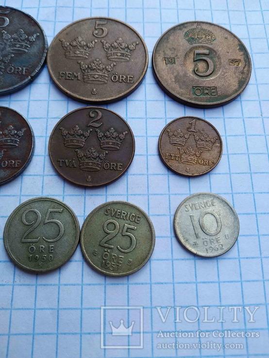 Швеція, 10 монет 1919 - 1962 рр., фото №6