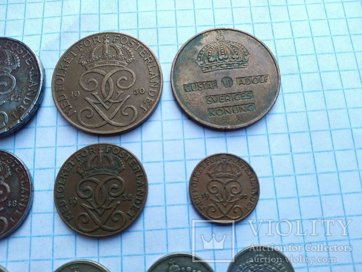 Швеція, 10 монет 1919 - 1962 рр., фото №9