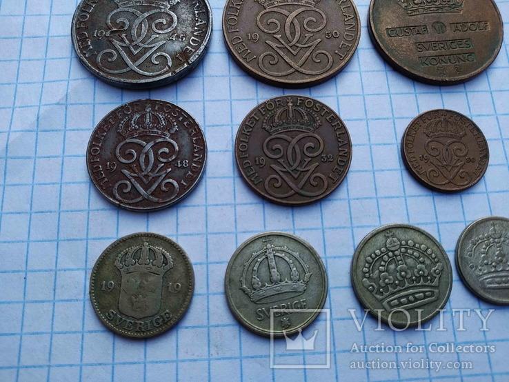 Швеція, 10 монет 1919 - 1962 рр., фото №10