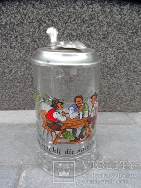 Пивная кружка Cтекло  0,5 L Alwe Germany, фото №4