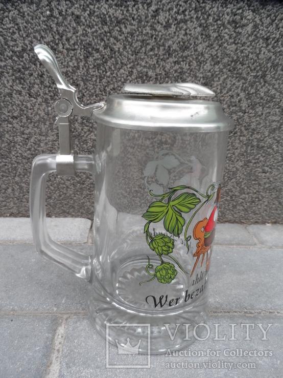 Пивная кружка Cтекло  0,5 L Alwe Germany, фото №5