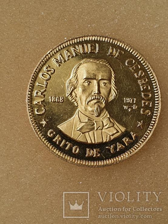 100 песо Куба 12 грамм 917 пробы