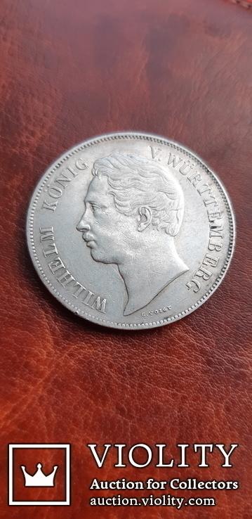 2 гульдена 1846 г. Вюртемберг, фото №2