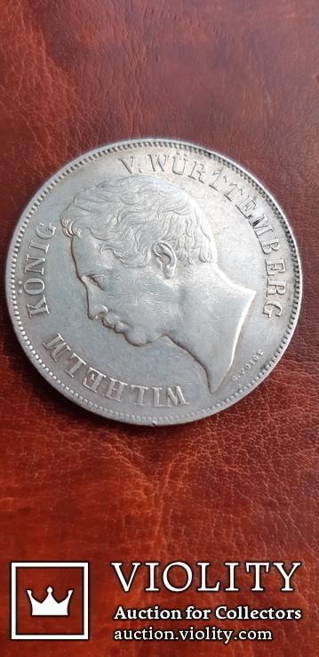 2 гульдена 1846 г. Вюртемберг, фото №3