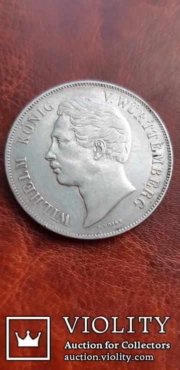 2 гульдена 1846 г. Вюртемберг, фото №5