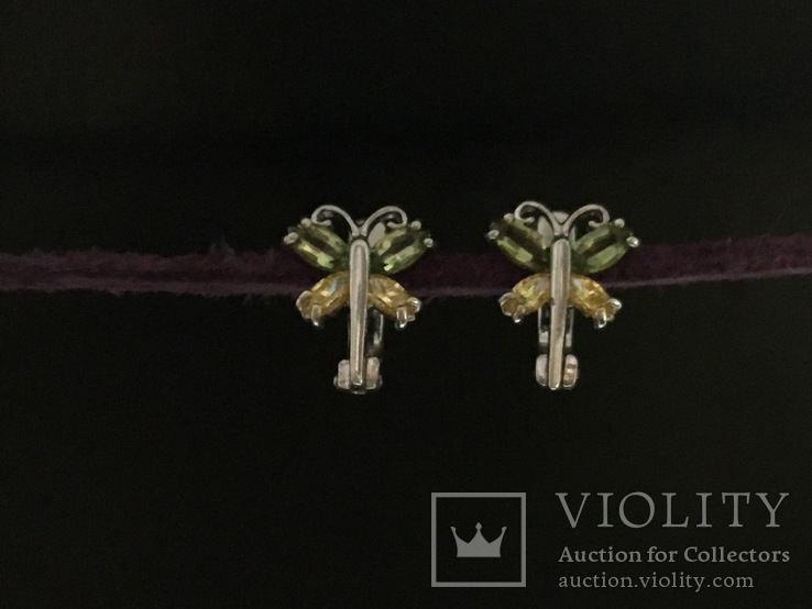 Сережки серебряные, фото №2