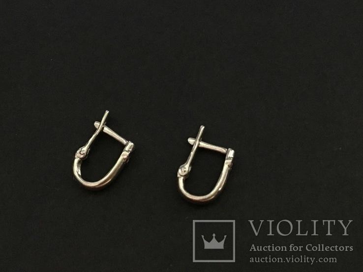 Сережки серебряные, фото №5