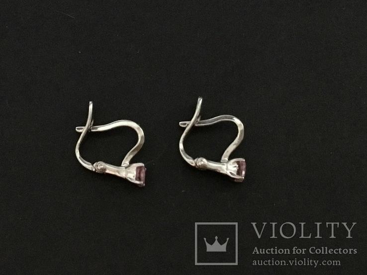 Сережки серебряные, фото №6