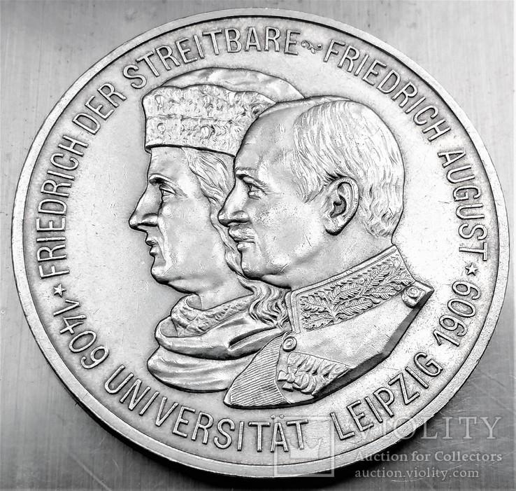 5 марок 1909 року, Саксонія, 500 років університету Лейпцига, срібло, фото №4