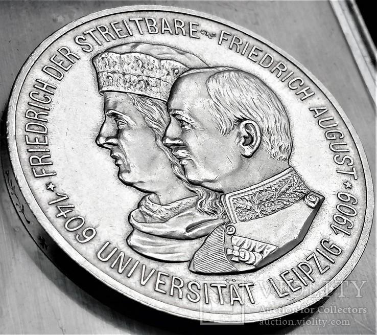 5 марок 1909 року, Саксонія, 500 років університету Лейпцига, срібло, фото №7