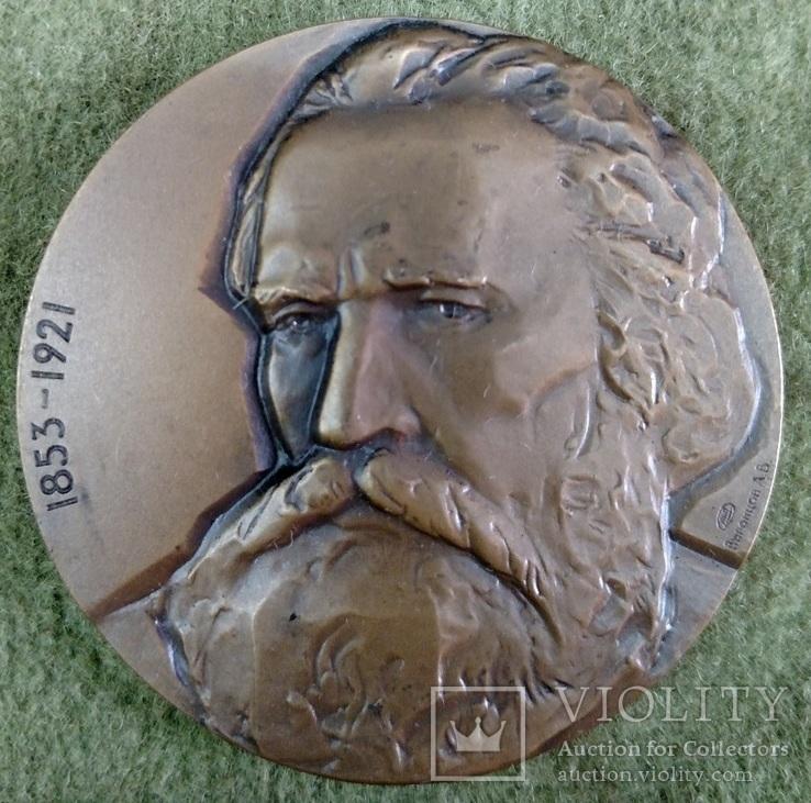 Настольная медаль В.Г.Короленко 1981г., фото №2