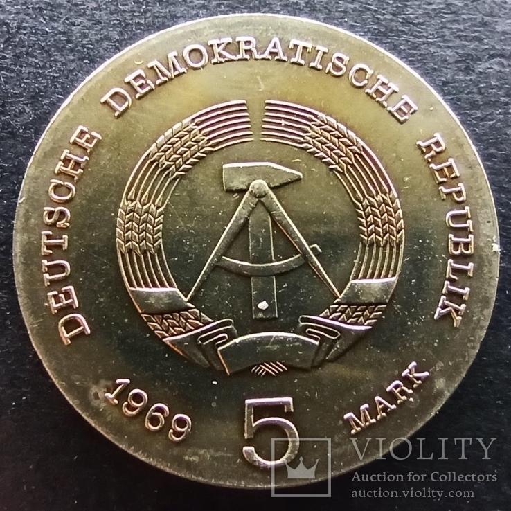 Германия - ГДР 5 марок, 1969 75 лет со дня смерти Генриха Рудольфа Герца UNC,Н29, фото №3