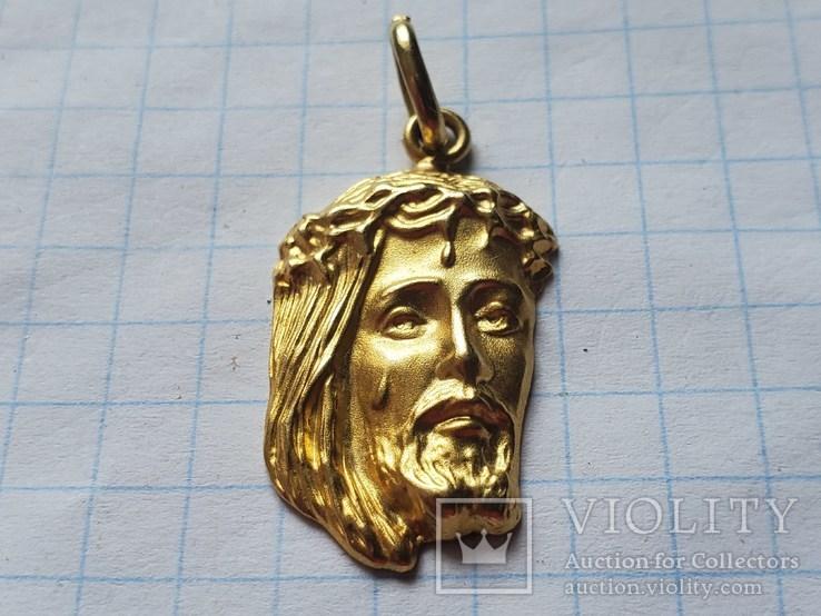 Подвес голова Иисуса Христа,750°., фото №2