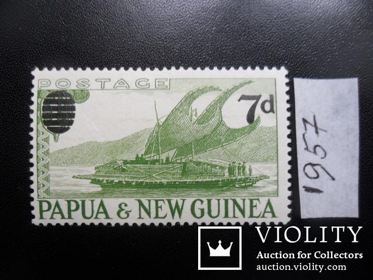 Корабли. Брит. Папуа Новая Гвинея. 1957 г.  МН, фото №2