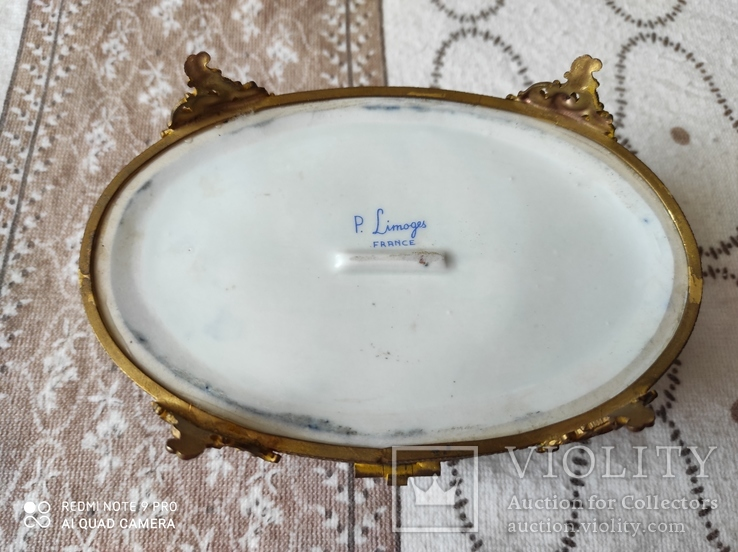 Фарфоровая шкатулка Limose , Франция, фото №5