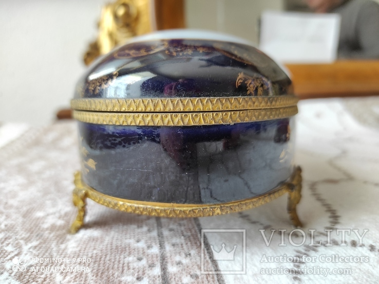 Фарфоровая шкатулка Limose , Франция, фото №8