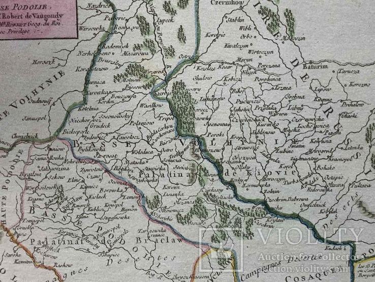 1749 Карта Подолья и Волыни 50х40 см., фото №5