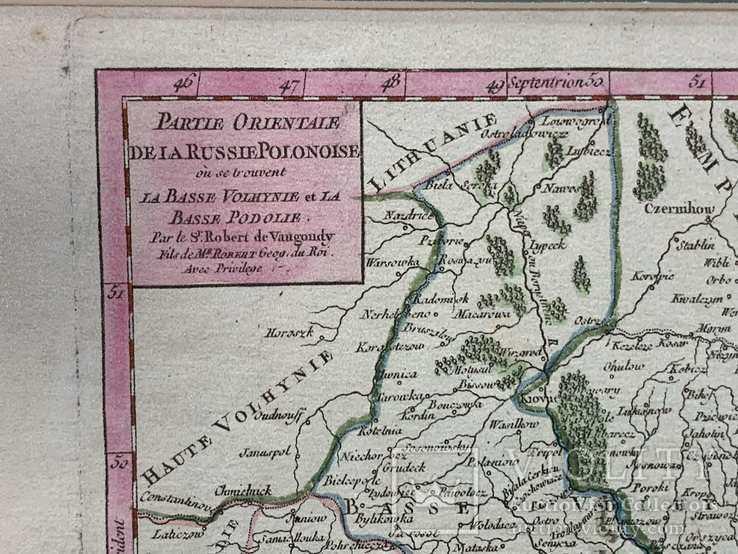 1749 Карта Подолья и Волыни 50х40 см., фото №6