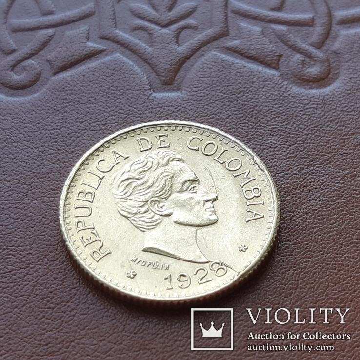 Золото 5 песо 1928 р.  Колумбія, фото №4