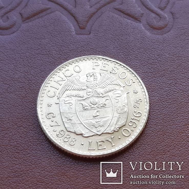 Золото 5 песо 1928 р.  Колумбія, фото №8