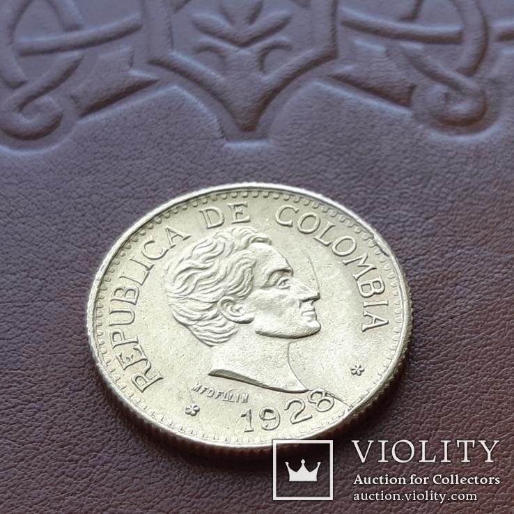 Золото 5 песо 1928 р.  Колумбія, фото №10