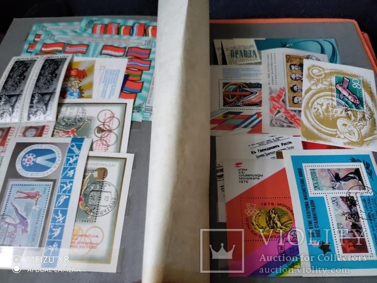 Кляссер с большим набором  марок и блоков СССР, фото №3