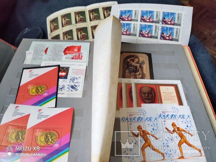 Кляссер с большим набором  марок и блоков СССР, фото №7