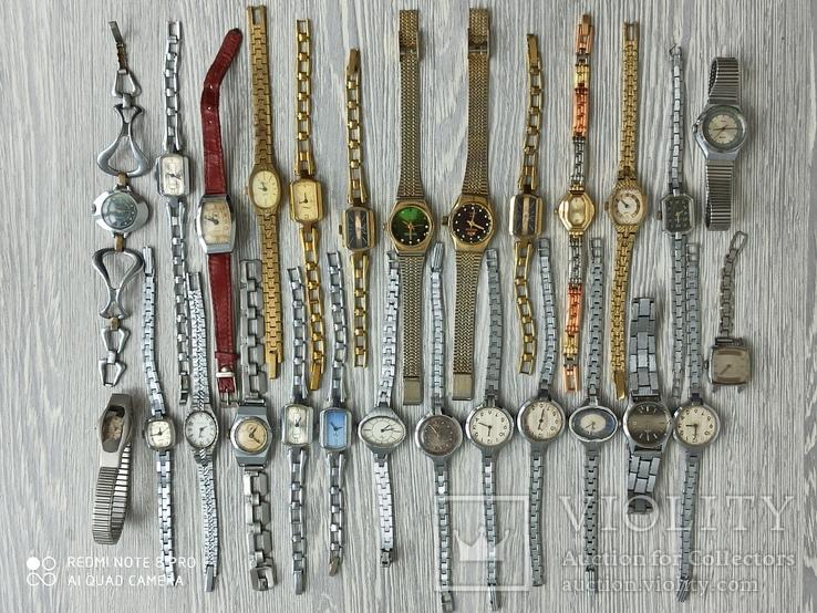 Часы женские / 85 шт. + 10 механизмов (большинство СССР), фото №2