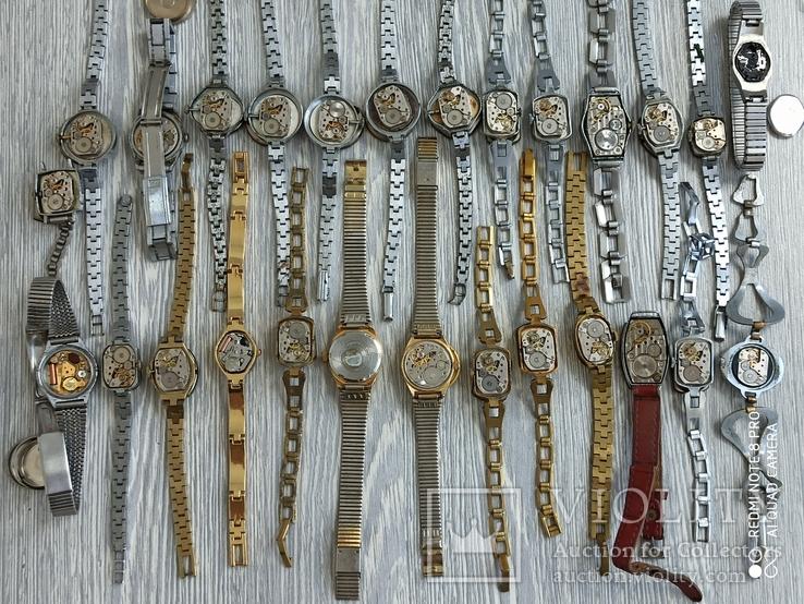 Часы женские / 85 шт. + 10 механизмов (большинство СССР), фото №5