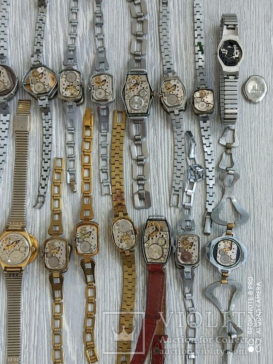 Часы женские / 85 шт. + 10 механизмов (большинство СССР), фото №7