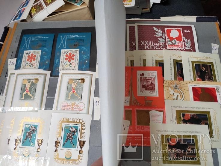 Большой кляссер с марками  и блокамиСССР+бонус, фото №3