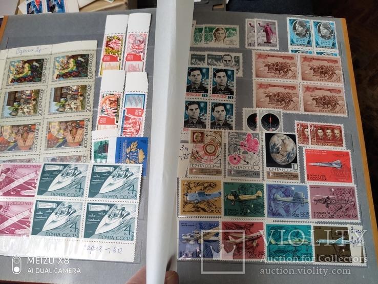 Большой кляссер с марками  и блокамиСССР+бонус, фото №7